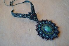 Mystic Dreams Macrame Necklace/ Macrame jewelry/ by SpiritYSol