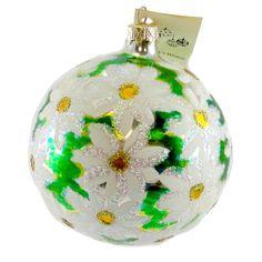 Daisy Explosion Glass Ornament