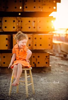 orange crush: little girl portrait in orange Summerland Photography/Sandy Summers Russell Kennewick Child Portrait Photographer