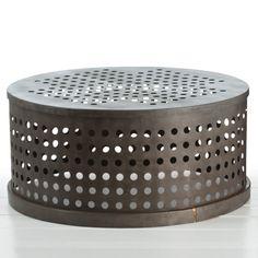 #arteriors sander #iron cocktail table #industrial #design