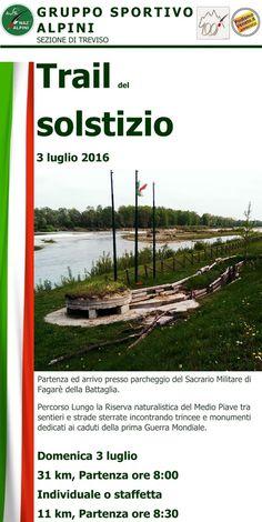 """Calendario Podismo Veneto: Fagarè (TV) """"Trail del Solstizio"""" 3.7"""