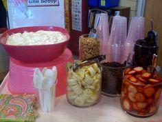 Yogurt Bar! Granola and fresh fruit