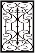 D3 Faux Iron frosted film for windows and glass doors