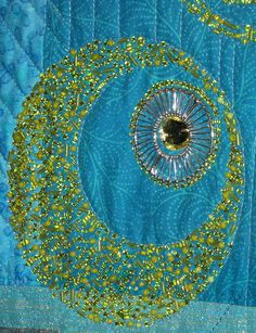 Detail, beaded quilt spotted at AQS Paducah 2010, photo by Kathy Schmidt