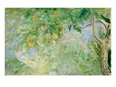 Orange Tree Branches by Berthe Morisot, Posters and Prints at Art.com