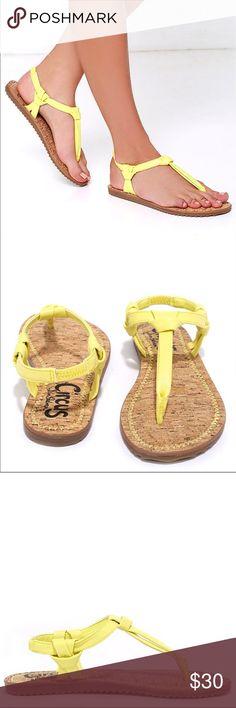 Yellow Thong Sandal 💛 Sam Edelman Circus ☀️ Yellow Thong • Summer Sandal • Never Worn Circus by Sam Edelman Shoes Sandals