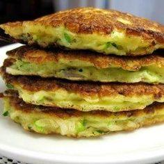 HMR Healthy Solutions Zucchini Pancakes | Recipes | HMRdiet = 1 Vanilla Shake + Cereal + 1/2c water + 1/2c zuc