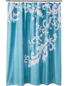 Threshold Floral Shower Curtain - Turquoise