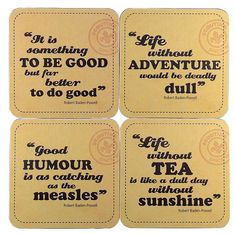 Baden-Powell Quotes Coasters