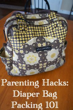 C, G & Mr. B: Family, Friends & Fun: Parenting Hacks: Diaper Bag Packing 101