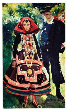 Joaquin Sorolla and The glory of Spanish dressing  Couple from Salamanca, 1912