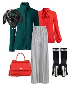 """""""Untitled #49"""" by sumely on Polyvore featuring Racil, Lands' End, Zimmermann, Dolce&Gabbana, MCM and Fendi"""