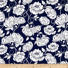 Timeless Treasures Midsummer's Eve Monotone Floral Swirl Navy from Designed by Alice Kennedy for Timeless Treasures, this cotton print fabric is perfect for quilting, apparel and home decor accents. Colors include navy and white. Midsummer's Eve, Bamboo Wall, Mother Of The Bride, Accent Decor, Fabric Design, Printing On Fabric, Diy And Crafts, Fabrics, Blue And White