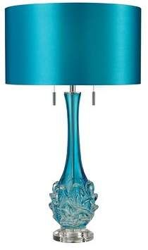 This elegant Dimond blown glass table lamp complements a variety of decors. Decor, Glass Table Lamp, Lamps Plus, Lamp, Glass Blowing, Lamp Sets, Glass Table, Teal Lamp, Glass