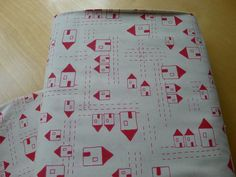 SALE Andover The Red Thread Houses in Cream by TactileFabrics