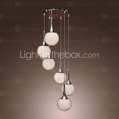 [USD $ 189.99] 240W Pendant Light with 6 Lights in Globe Shape