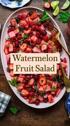 Best Salad Recipes, Fruit Recipes, Whole Food Recipes, Vegetarian Recipes, Dinner Recipes, Cooking Recipes, Healthy Recipes, Summer Salad Recipes, Health Desserts