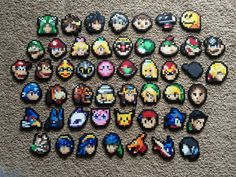 Super Smash Bros. Perler Bead Sprite - Stock Icon (CHOOSE ONE)