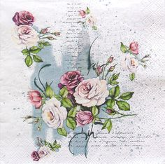 Items similar to Set of 2 pcs ''Small bouquet of roses'' paper napkins for Decoupage or collectibles Decopatch napkins, Floral napkins on Etsy Small Bouquet, Rose Bouquet, Paper Napkins For Decoupage, Rose Design, Rice Paper, Craft Party, Vintage Table, Decoration, Diy
