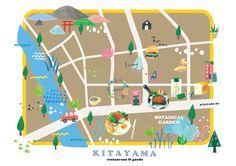 restaurant & goods  map design