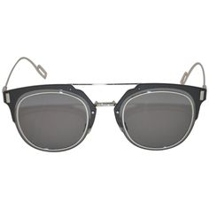8afa7d80c5414 Christian Dior Homme Polished Silver Hardware With Smoked Lucite Sunglasses