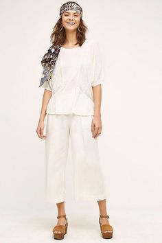 NEW ANTHROPOLOGIE Size 26 = 2 $128 Joni Wide-Leg Crops Marrakech Womens Pants #Anthropologie #CaprisCropped