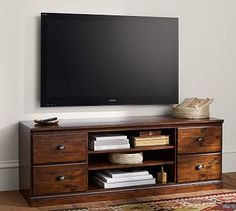 Printer's TV Stand #potterybarn 64 wide x 20 deep x 23 high holds up to 64' tv