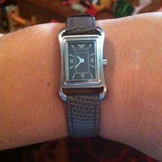 Emporia Armani ladies watch Classic ladies Armani watch.  It looks great with jeans or for a night out.  Worn only a few times.  Watch comes with original box and authenticity booklet.  It will always be in style!  JUST REDUCED FROM $75.00! Emporio Armani Jewelry