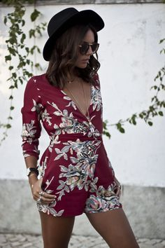 Tropical print playsuit