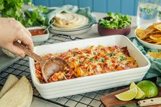 tacograteng i ildfast form til hele familien Tex Mex, Fritters, Nachos, Ground Beef, Macaroni And Cheese, Food Food, Ethnic Recipes, Mexican, Gardening