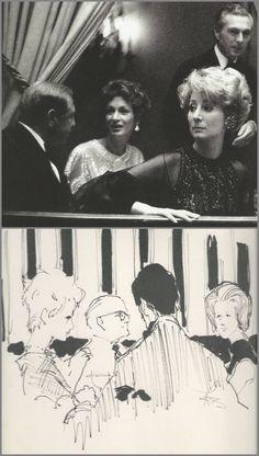 Marella Agnelli at Truman Capote's Black and White Dance (that's what the invitation said) November 1966.