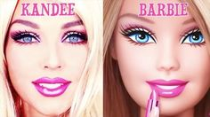 How to turn into Barbie 🎀🎥👻 by @kandeejohnson ・・・ ...if you want the full, step by step tutorial type this into youtube search bar: KANDEE BARBIE ! #barbie #costume #makeup #beautyqueens4ever  #hairstyles #nails #nailart #motd #ghalichiglam #ilovemakeup #ilovemacgirls #makeup #makeupartist #vegas_nay #dressyourface #anastasiabeverlyhills #mua #likeforlike #like4like #tagsforlikes #instaglam #lipplump #wakeupandmakeup #halloween #halloweenmakeup