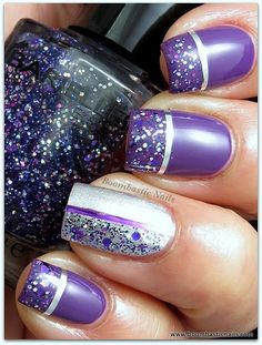 Boombastic Nails: Glitter & Striping Tape Nail Art