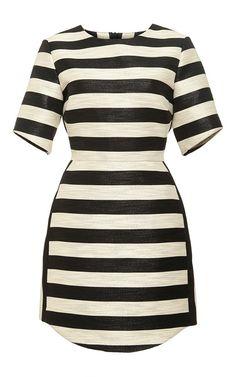 striped shimmer mini dress