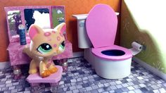 How to Make an LPS Bathroom Toilet : Doll DIY