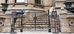 Decorative bronze gate restoration for Driehaus Museum (Chicago, IL)