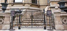 Decorative bronze gate restoration for Driehaus Museum (Chicago, IL)