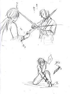 (アナログ)日本刀のアクションポーズ的な何か [5]