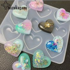 UV Resin Jewelry Liquid Silicone Mold Heart Charms Resin Molds For DIY Pendant Jewelry Making Molds - UV Resin Jewelry Liquid Silicone Mold Heart Resin Charms Pendant Molds For DIY Intersperse Decorate - Diy Silicone Molds, Resin Molds, Diy Resin Mold, Uv Resin, Resin Art, Diy Recycling, Diy Resin Crafts, Resin Charms, Diy Molding