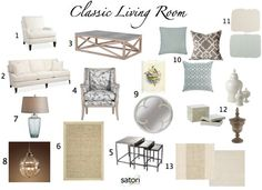 color boards interior design | Case Study: Classic Living Room Design - Satori Design for Living