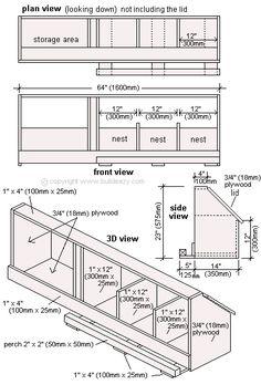 chicken coop nesting box plans