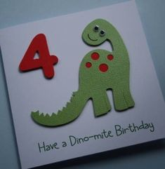 Children's dinosaur birthday card
