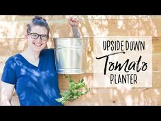 Grow tomatoes in a small garden with this DIY Upside Down Tomato Planter. I use a Galvanized Bucket to create a practical (and cute) hanging tomato planter. Upside Down Tomato Planter, Galvanized Buckets, Grow Tomatoes, Tomato Garden, Crazy Kids, Small Gardens, Planters, Gardening, Make It Yourself