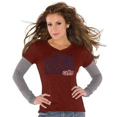 Touch by Alyssa Milano Cleveland Cavaliers Double V Tri-Blend Premium T-Shirt