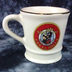USS La Jolla SSN-701 Coffee Cup  Mug USN Navy Submarine Mil-Art USA Made