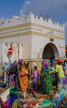The Exotic Old City Of Harar In Ethiopia.