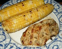 Grilled Rosemary-Lemon Turkey Cutlets and Grilled Corn with Honey Butter*
