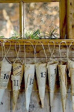 A rustic Advent idea.