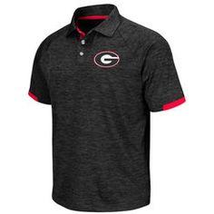Men's Colosseum Black Georgia Bulldogs Spiral Polo