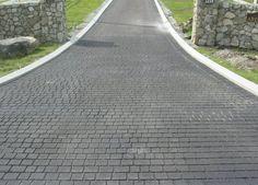 Stamped asphalt driveway